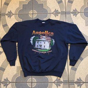 VTG '02 Angelica NY Graphic Crewneck Sweatshirt XL